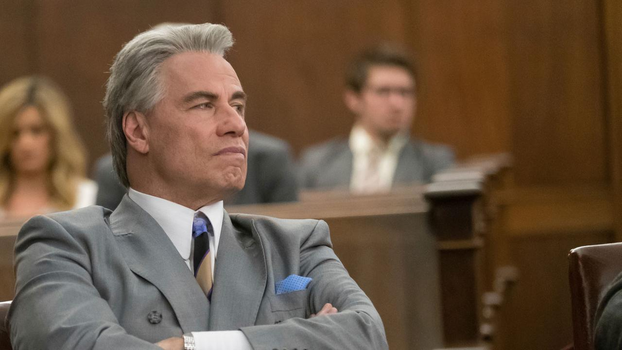 This image released by Vertical Entertainment shows John Travolta in a scene from Gotti.