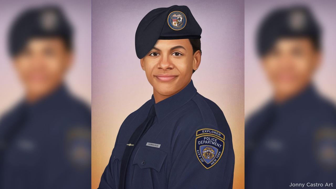 Philadelphia police officer creates portrait of slain teen as NYPD detective