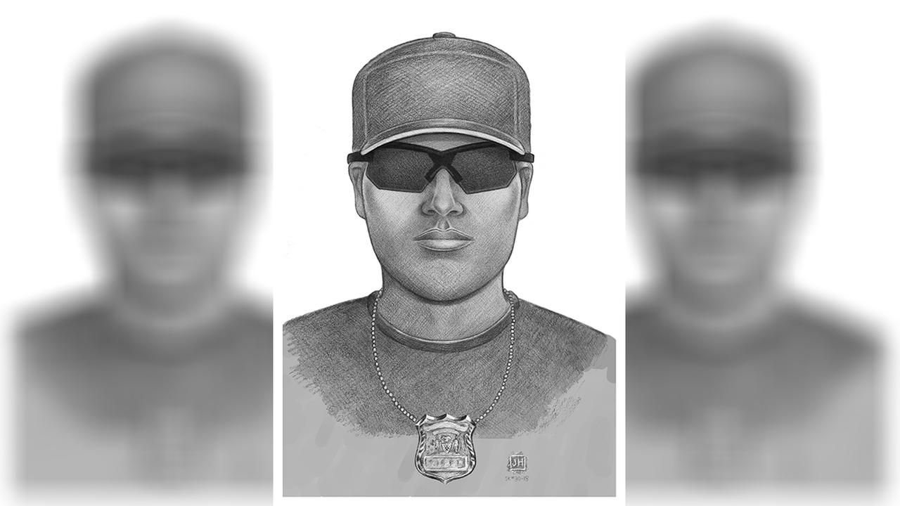 Sketch released of police impersonator who robbed man in Baychester