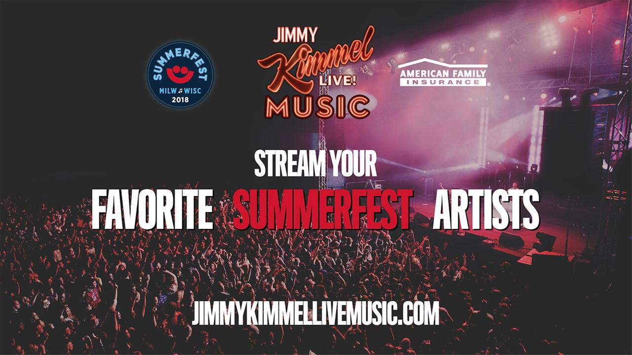 Jimmy Kimmel LIVE Music Streaming from Summerfest