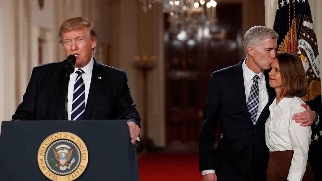 President Donald Trump speaks in the East Room of the White House in Washington, Tuesday, Jan. 31, 2017, to announce Judge Neil Gorsuch as his nominee for the Supreme Court.