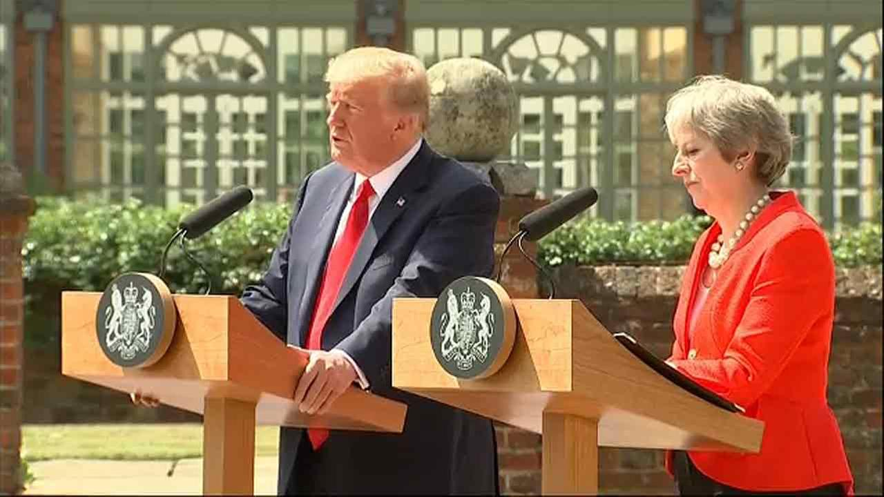 Trump greeted with protests during first United Kingdom visit