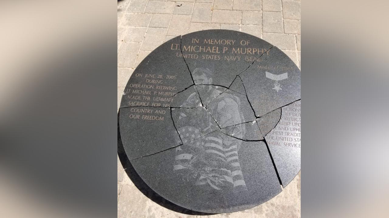 Memorial honoring hero Navy Seal from Long Island vandalized