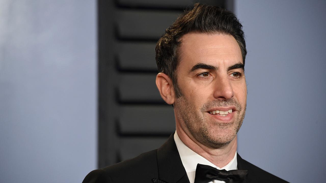 Sacha Baron Cohen arrives at the Vanity Fair Oscar Party on Sunday, March 4, 2018, in Beverly Hills, Calif.