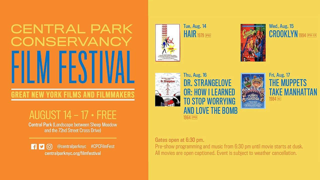 2018 Central Park Conservancy Film Festival to Showcase Great New York City Films and Filmmakers