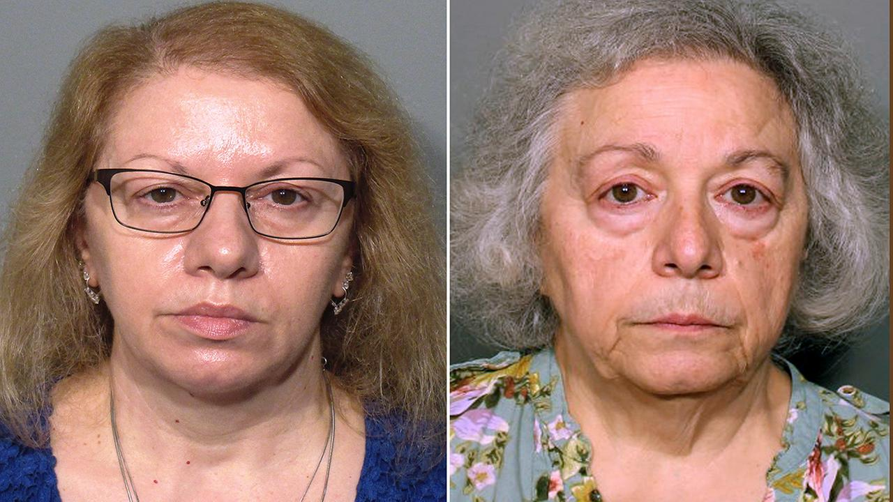 This pair of photos released by the New Canaan Police Department show Joanne Pascarelli, left, of Stratford, Conn., and her sister Marie Wilson, right, of Wilton, Conn.