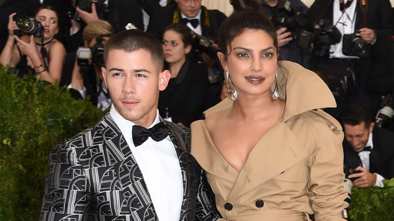 Nick Jonas, left, and Priyanka Chopra attend The Metropolitan Museum of Arts Costume Institute benefit gala on Monday, May 1, 2017.