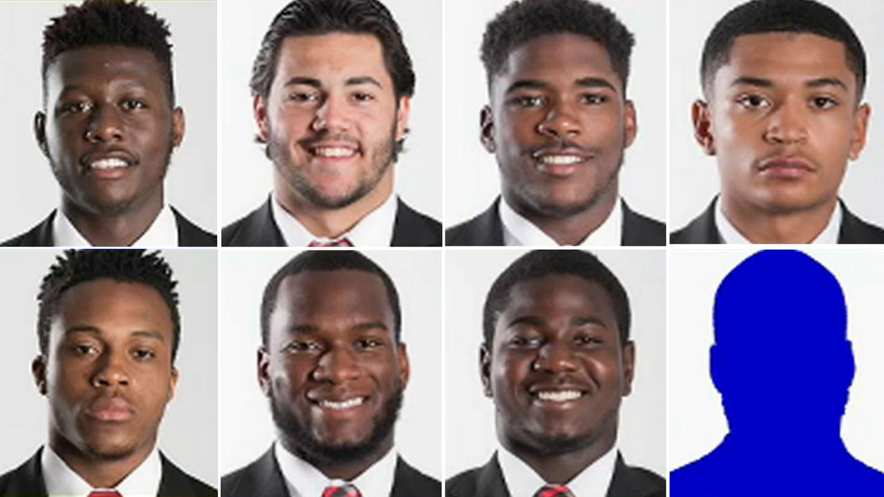 From top left: Kai Gray, Brendan DeVera, Naijee Jones, Edwin Lopez. From bottom left: Kwabena Marfo, Christian Onyechi, Syhiem Simmons, Malik Vaccaro-Dixon (no photo provided).