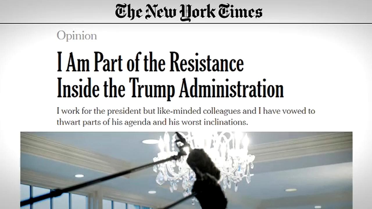 Image result for Anonymous op-ed blasting Trump