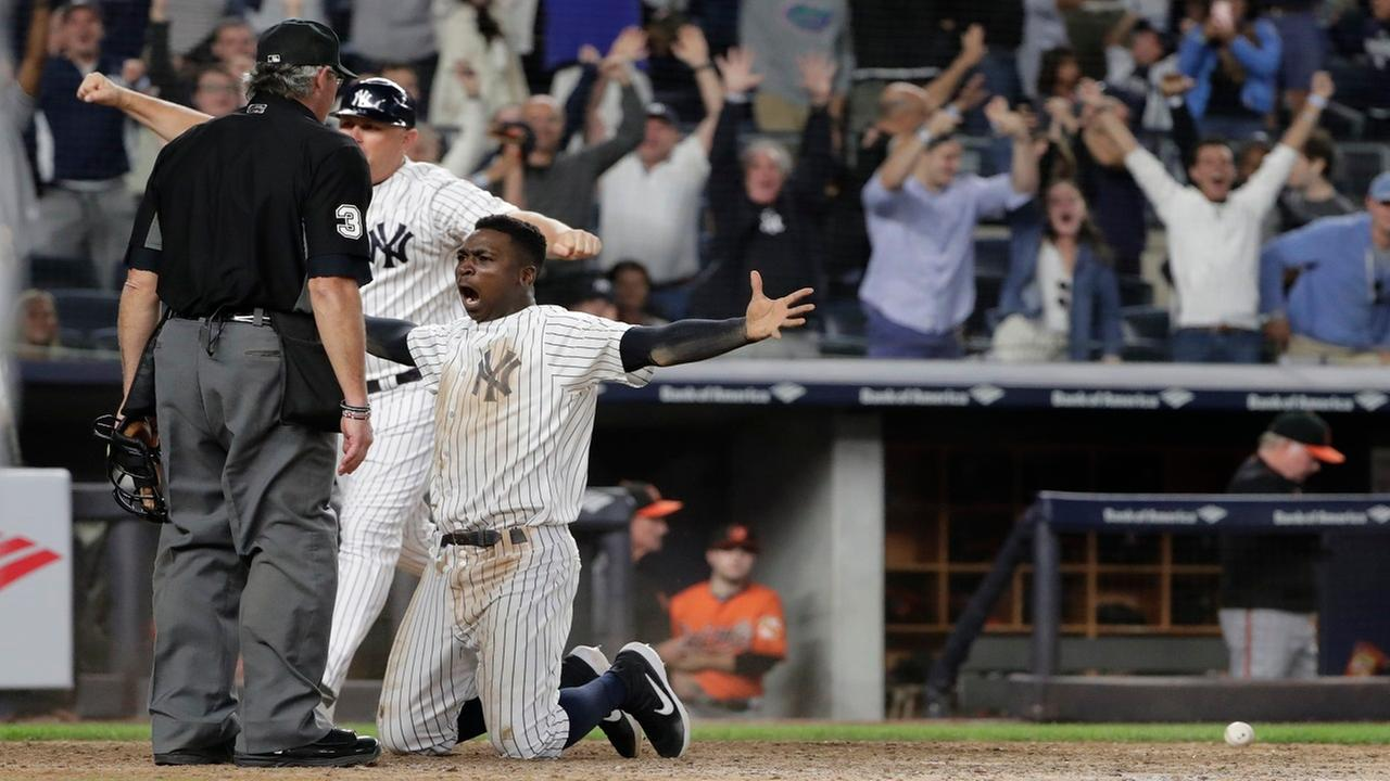 Yankees clinch playoff spot, earn AL wild card after walk-off win over Orioles