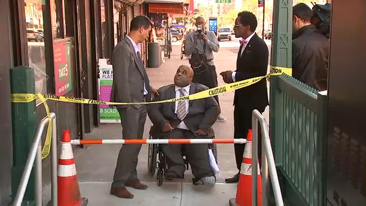 Manhattan subway station reopens to protests over lack of ADA access