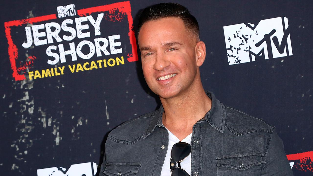 Mike The Situation Sorrentino arrives at the LA Premiere of Jersey Shore Family Vacation on Thursday, March 29, in Los Angeles.