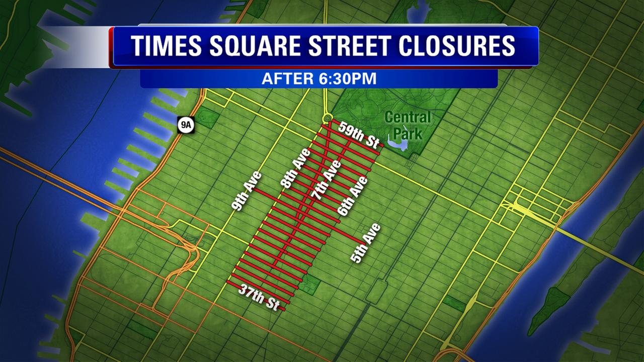 Street closures for New Year's Eve in Times Square