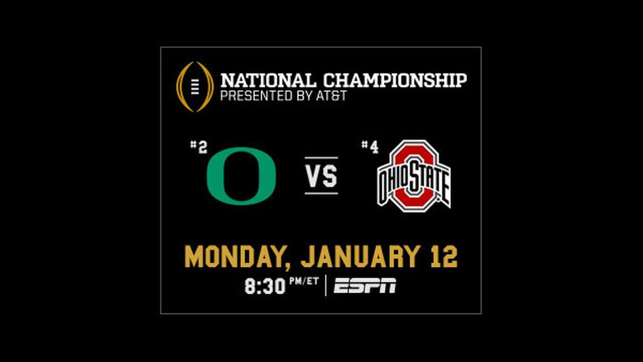 Watch College Football Playoff National Championship tonight on ESPN!