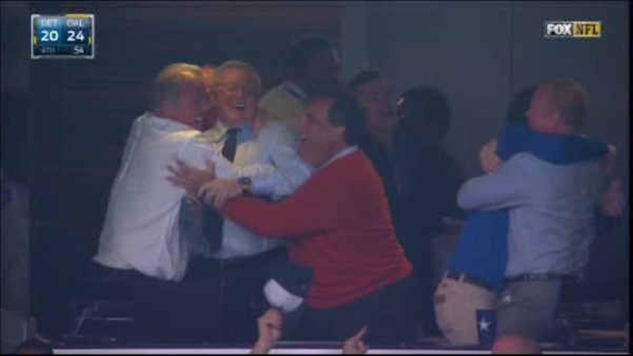 """Cowboys owner Jerry Jones: Gov. Christie is """"part of our mojo"""""""