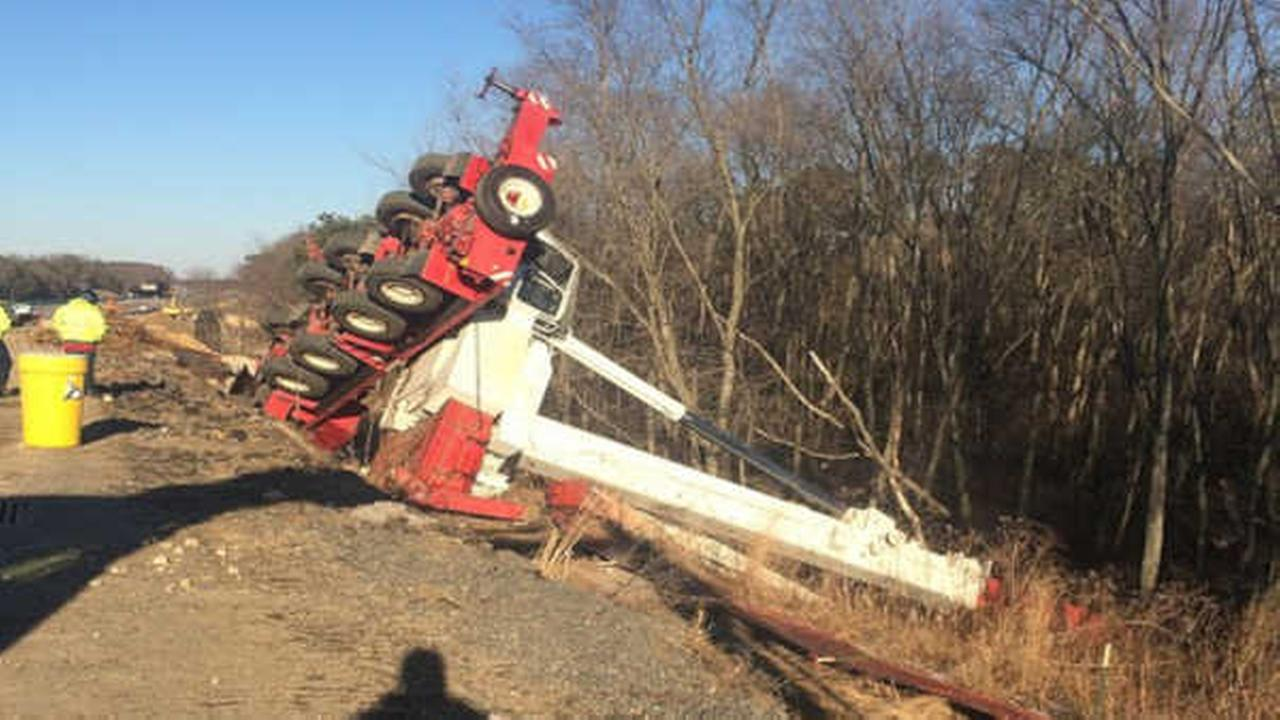 Construction worker injured when crane tips over near Garden State ...
