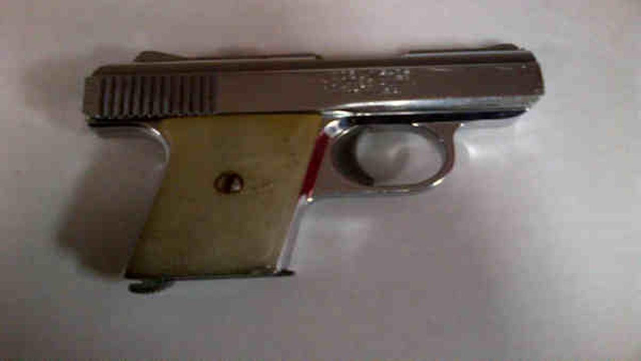 According to the NYPD, this .25 caliber Raven Arms firearms was recovered at the scene.