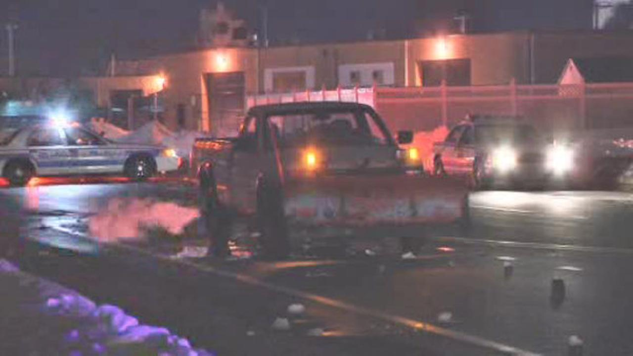 Woman struck by truck with snow plow on Long Island