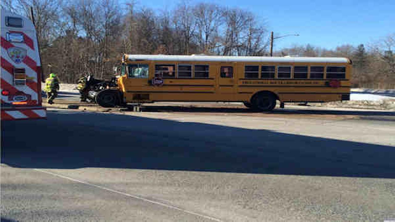 Long Island school bus crash lands 28 in hospital