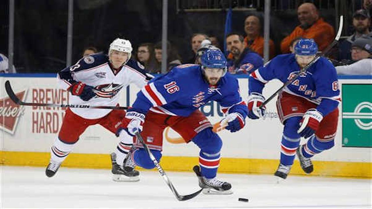 Rangers beat Blue Jackets 4-3 in shootout