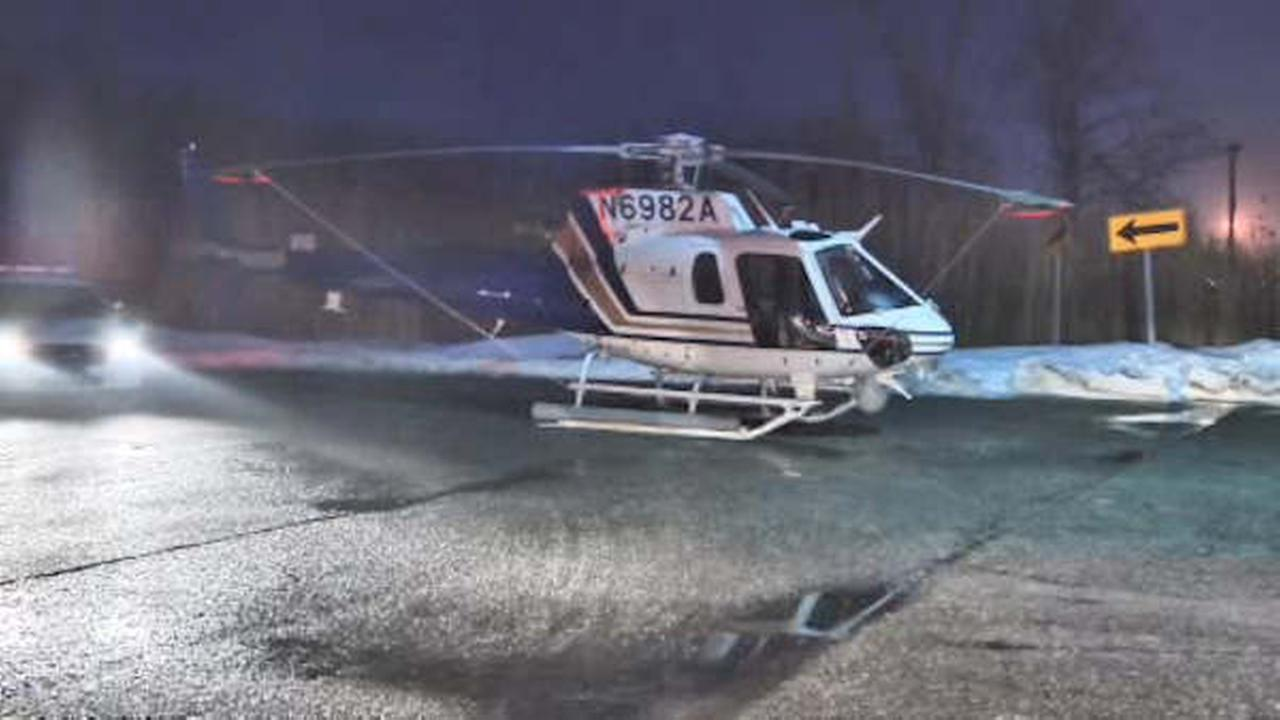 Helicopter makes emergency landing on Long Island street