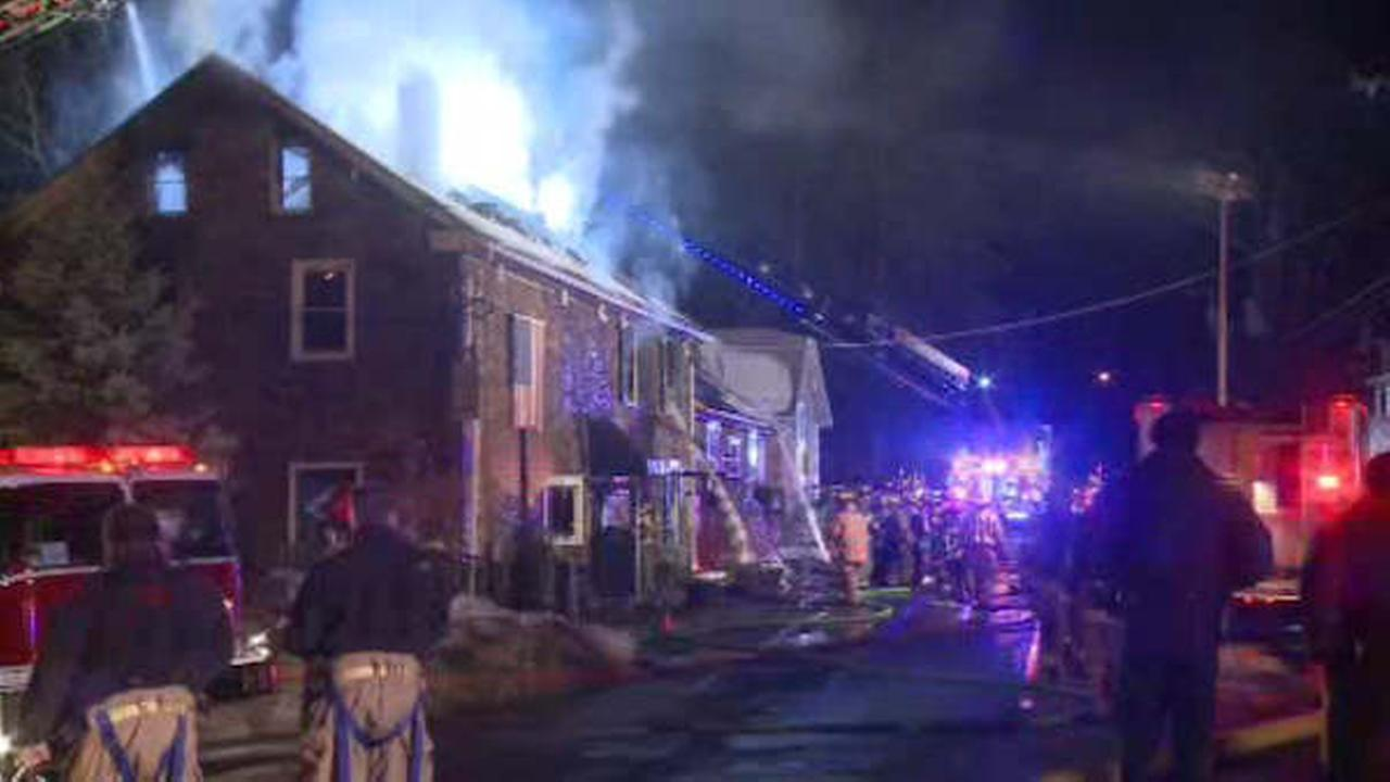 Flames tear through historic restaurant in New Jersey