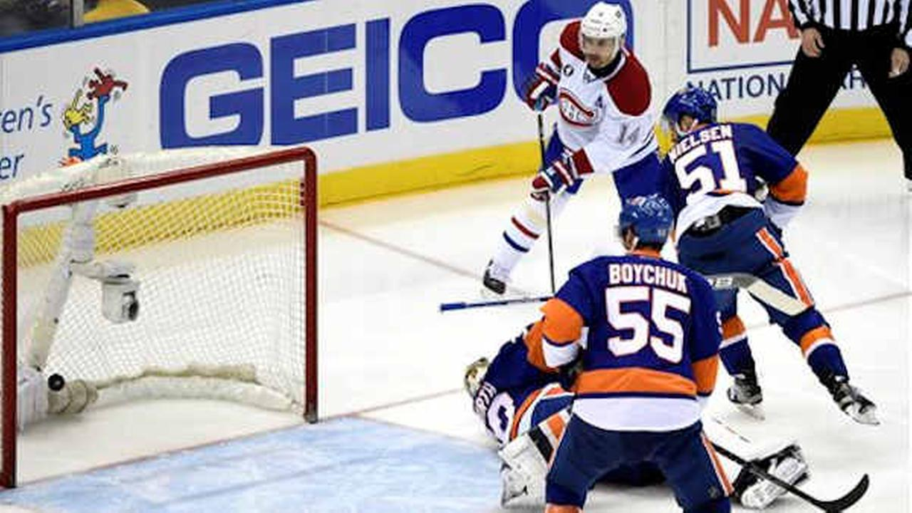 Isles drop 3rd straight with loss to Canadiens