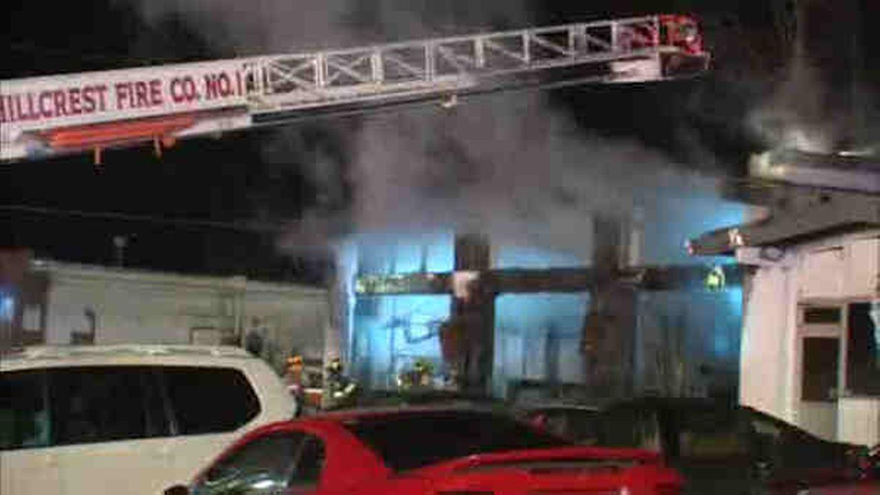 Spring Valley auto body shop on Main Street burns in overnight fire
