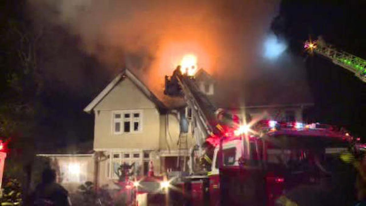 Fire rips through century-old house in Deal, New Jersey