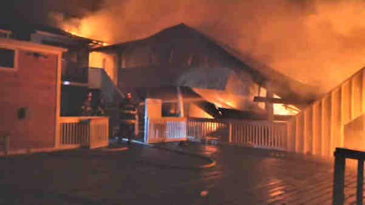 Fire Island fire in Cherry Grove leaves 4 building, businesses damaged