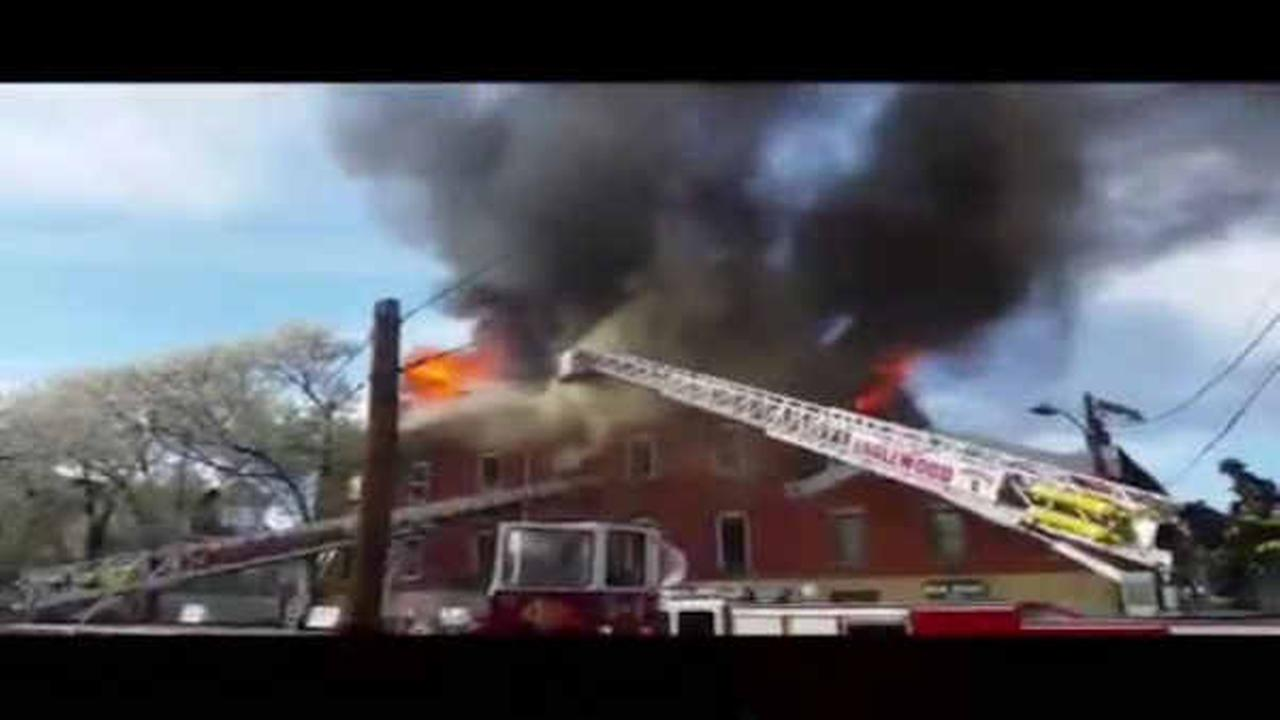 Fire breaks out in 3-story building in Hackensack