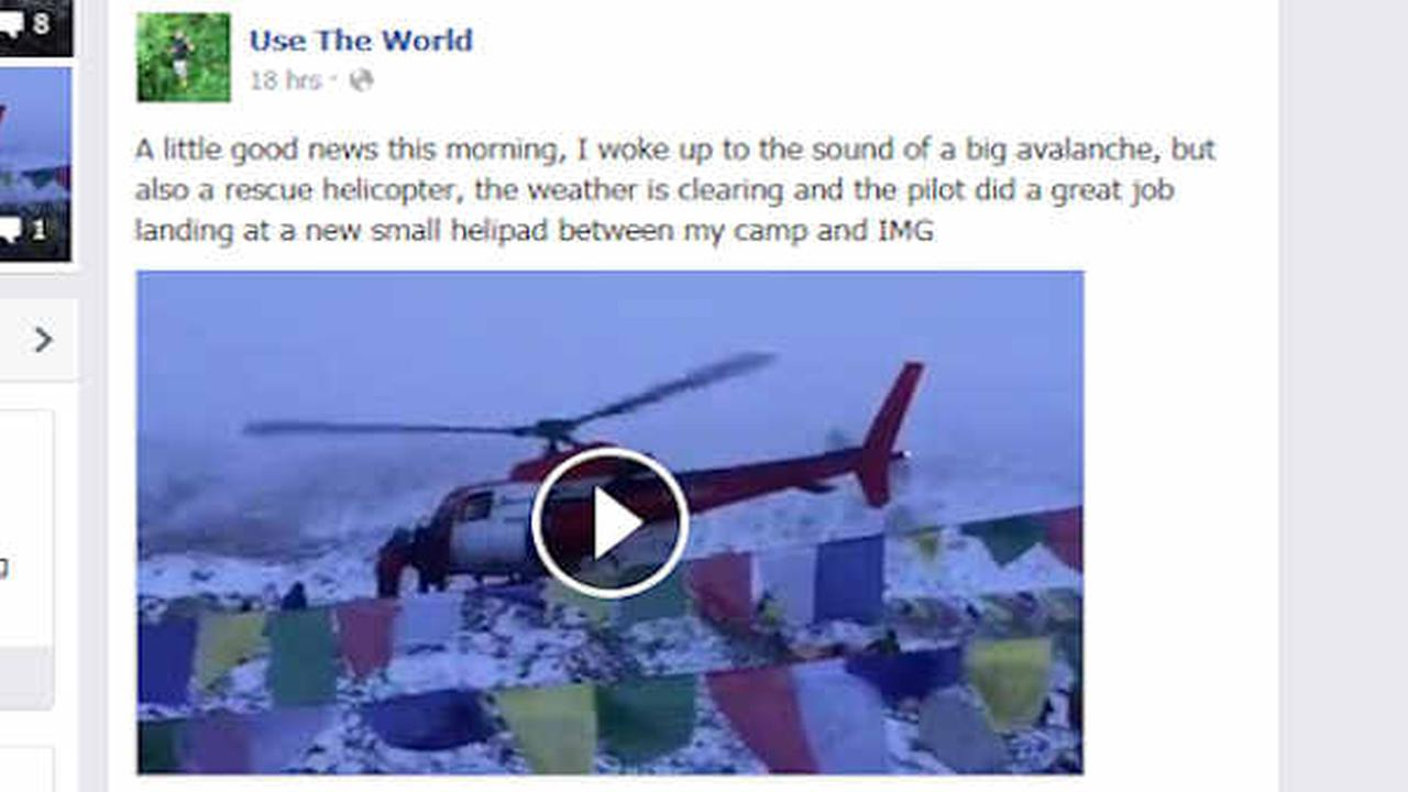 Mountain climber describes aftermath of Nepal quake on Facebook