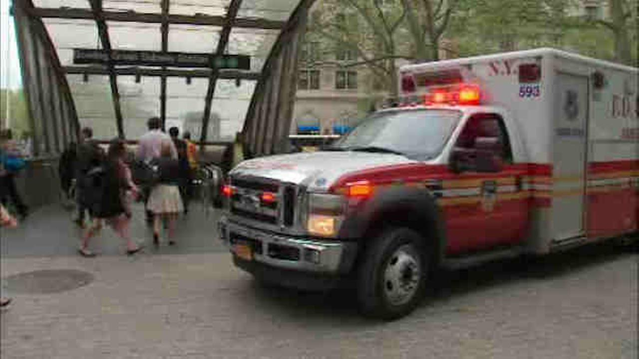 Toddler rescued by cop after falling on NYC subway tracks