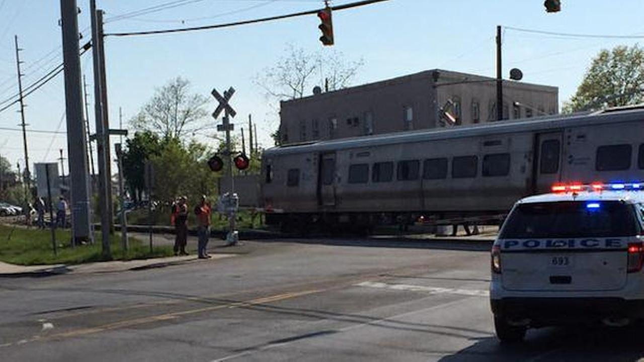 Car hit by LIRR train in Hewlett