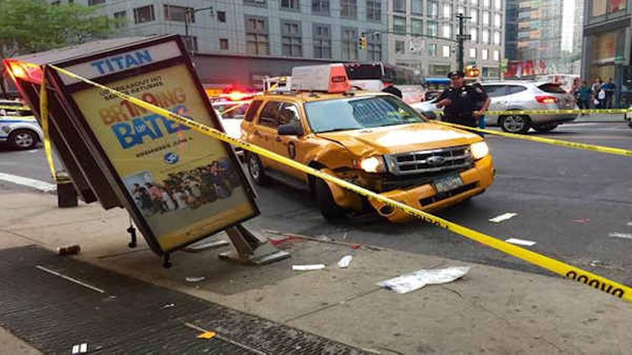 Woman in critical condition after being hit by taxi in Midtown