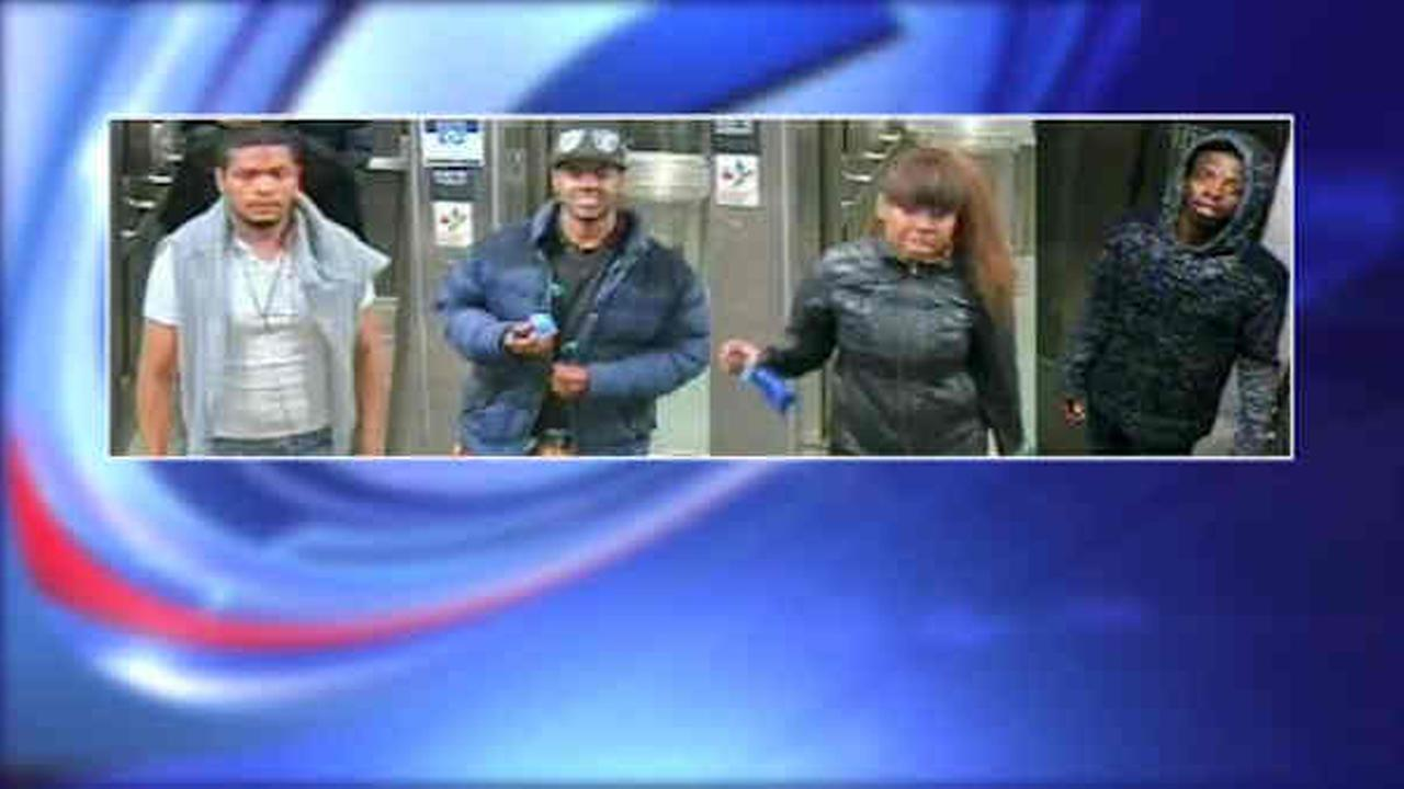 4 suspects sought in attacks and robberies on NYC subway train