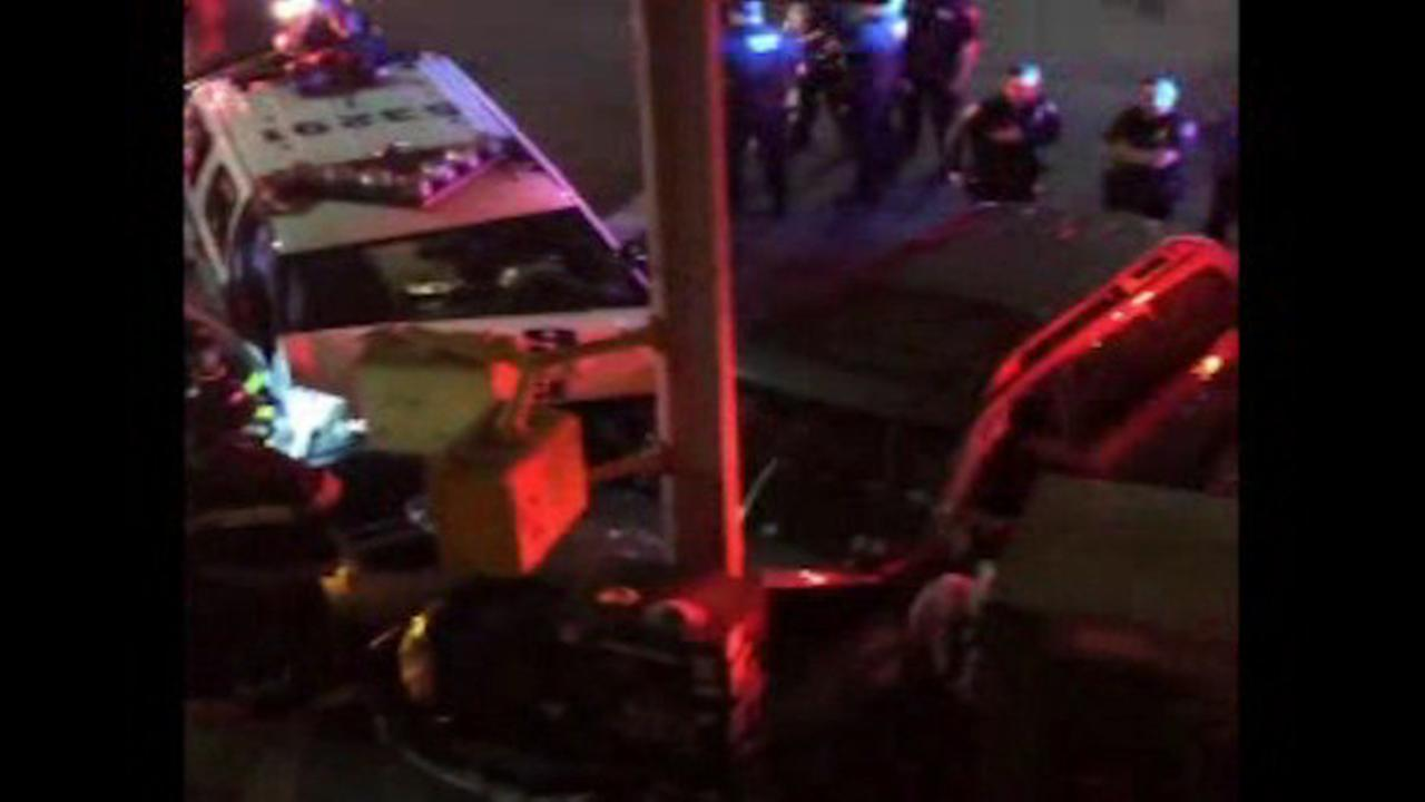 Collision between Port Authority vehicle and SUV injures 3