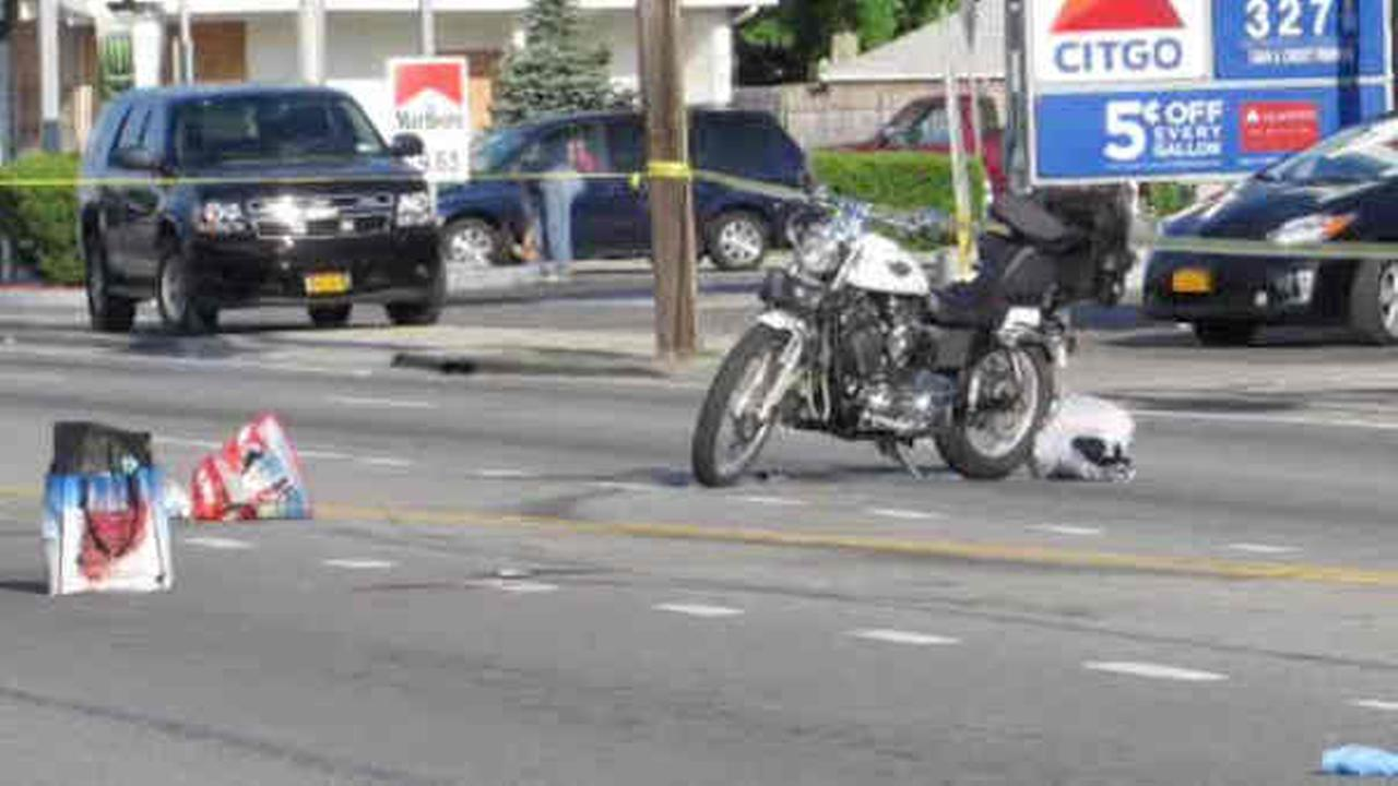 71-year old woman struck by motorcycle on Hempstead Turnpike