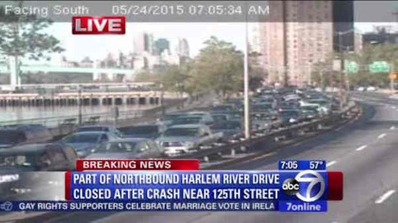 Woman killed, driver arrested in crash on Harlem River Drive