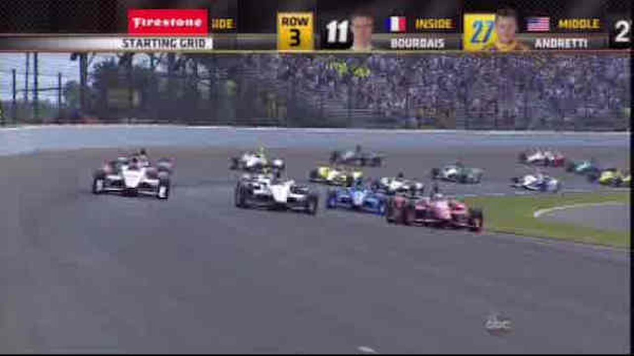 Juan Pablo Montoya beats teammate Will Power for second Indy 500 win