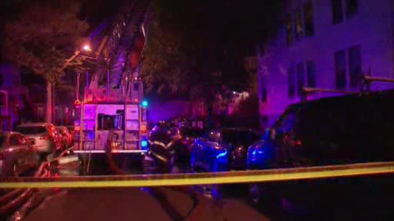 Three-alarm fire burns through home in Newark