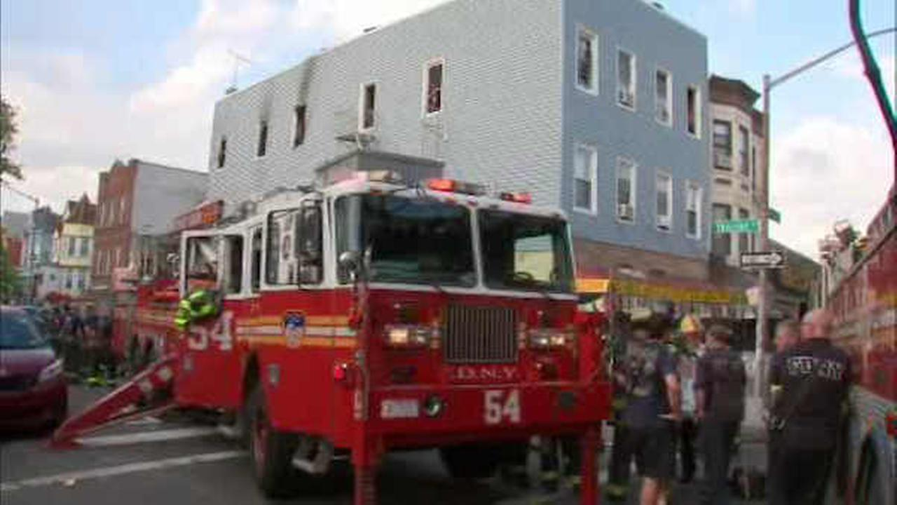 7 firefighters injured in house fire in Soundview section of the Bronx