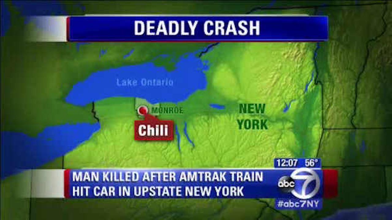 Upstate New York man killed when Amtrak train slams into his car