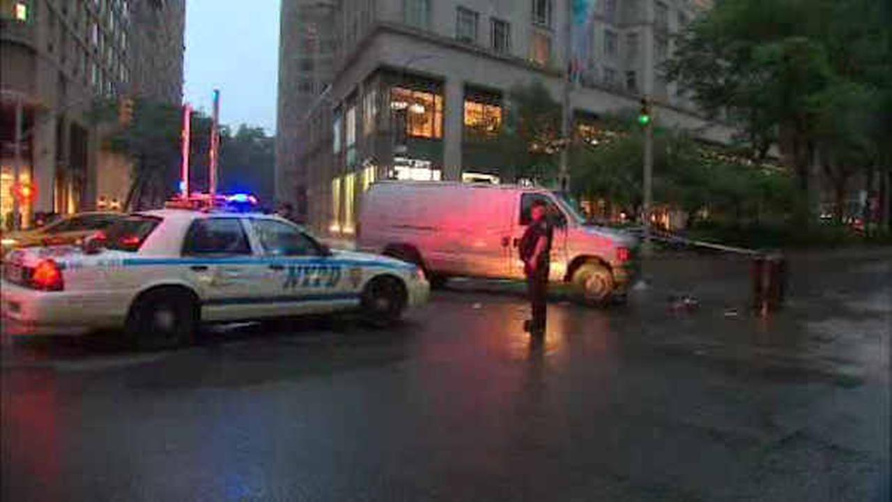 Man in critical condition after being struck by van on Upper West Side