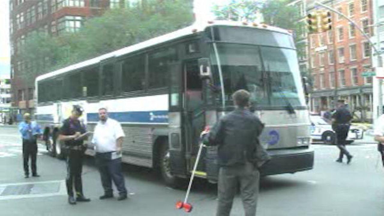Elderly woman struck by MTA bus in Lower Manhattan