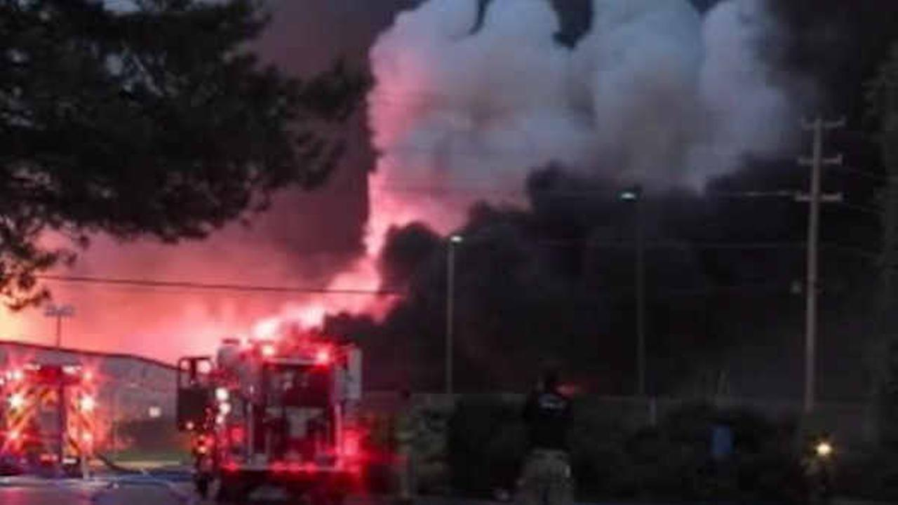 Massive fire at Pennsylvania chemical plant; shelter in place ordered