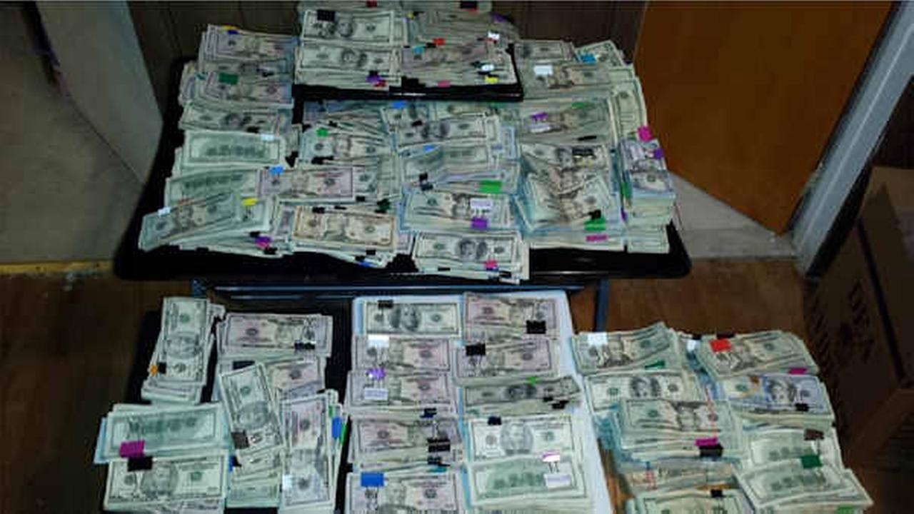 Authorities seized over $600,000 in cash from the Lucas residence in Scarsdale.