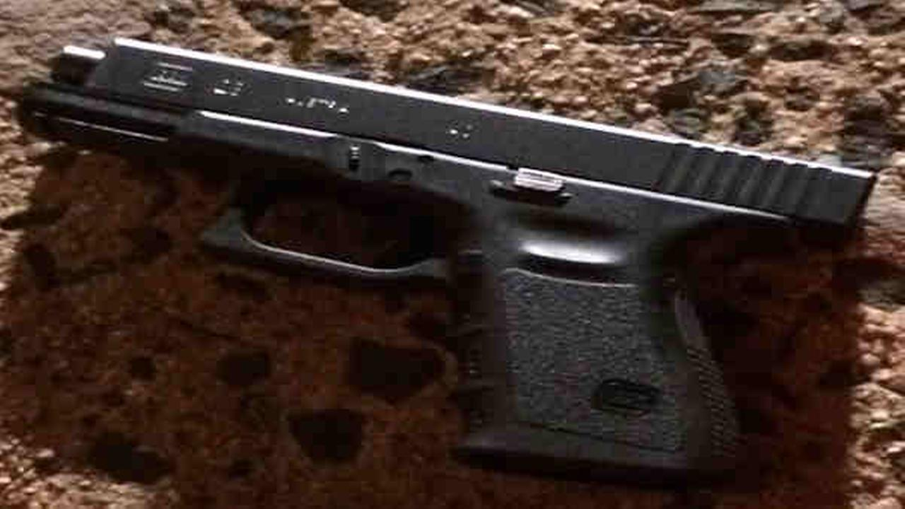 .40 caliber Glock 23 found a scene of overnight police shooting