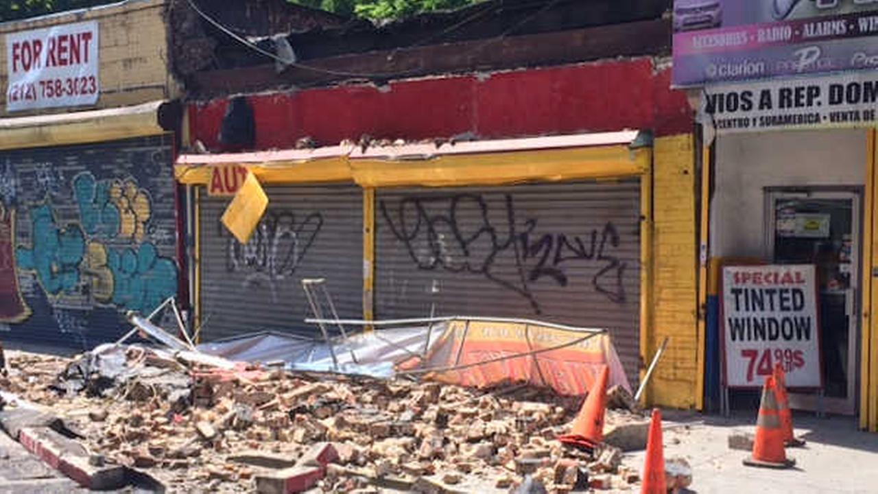 awning in the Bronx collapses