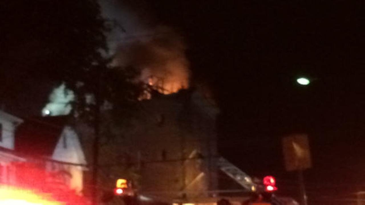 Firefighter injured battling massive fire in Walden, New York